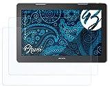 Bruni Schutzfolie kompatibel mit Archos 133 Oxygen Folie, glasklare Bildschirmschutzfolie (2X)