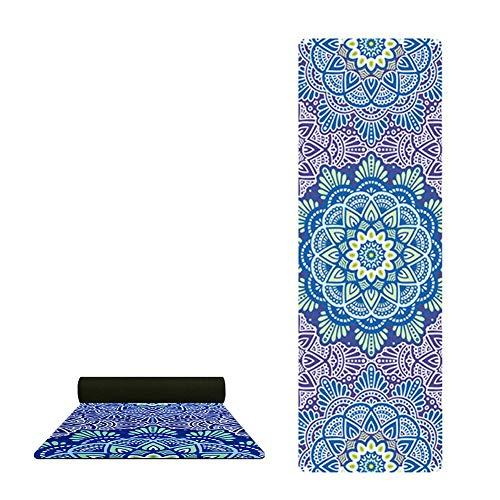 Colchonetas de Yoga portátiles ultraligeras Plegables Mantas Antideslizantes de Caucho Natural Impresas para Yoge Pilates