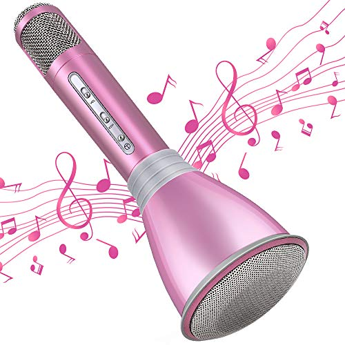 TOSING Microphone for Kids, Wireless Bluetooth Karaoke...