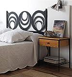 Cabecero de forja Moderno Getafe - Amarillo 53, Cabecero para colchón de 90 cm