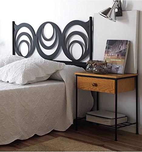 Cabecero de forja Moderno Getafe - Crema 22, Cabecero para colchón de 200 cm