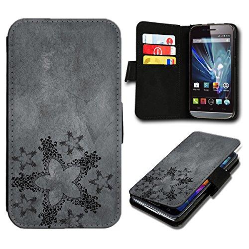 sw-mobile-shop Book Style Huawei Ascend Y635 Premium PU-Leder Tasche Flip Brieftasche Handy Hülle mit Kartenfächer für Huawei Ascend Y635 - Design Flip SV123