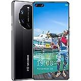 Teléfono Móvil Libre, Mate40 RS+ Android 6.0 Smartphone, 6.8' Screen Móvil, Smartphone Barato Dual SIM, Batería 2400 mAh, 2MP+5MP, 16GB ROM, Face ID,Negro