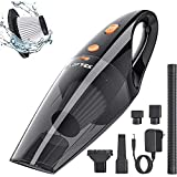 LOFTEK Car Vacuum Cordless - Handheld Portable Car Vacuum Cleaner with High Power Professional Vacuum for Car - Wet&Dry Use
