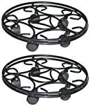 GARDEN KING 11 INCH Pot Stand with Wheels - Plant Trolley for Indoor and Outdoor (Set of 2)