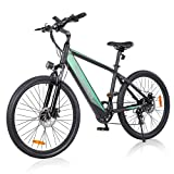 Electric Bike Adult, GELEISEN 26' 350W Ebike Electric Mountain Bike with 36V/10Ah Removable Battery, 5 Level Pedal Assist, LCD Display with USB, Shimano Rear 7 Speed Gears, 20Mph Electric Bicycle