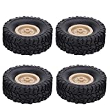 4PCS Rubber Tires, RC Crawler Truck Car Wheel Tyre Climbing Tires Compatible with MN-35 MN-66 B-14 B-24 Q62 Q65