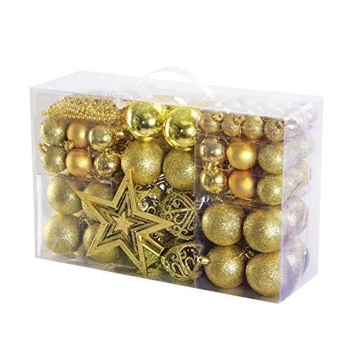 Yorbay Bolas de Navidad Incluyendo la Cadena de perlasy la Estrella del árbol...
