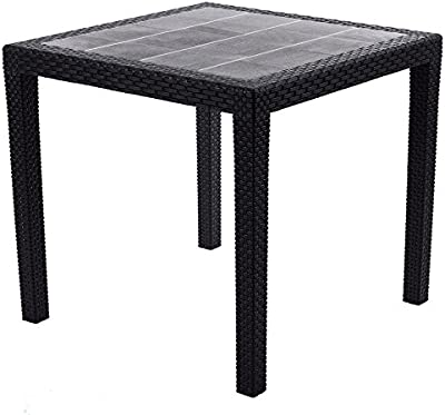 areta AR014 Urano Décor Rattan Table Plastique 140 x 80 x 72 cm ...
