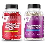 Thermo Fat Burner MAX 120 Capsules + L-Carnitine Green Tea 90 Capsules | Pérdida de peso | Pastillas adelgazantes | Pastillas energéticas | Reducción de tejido graso