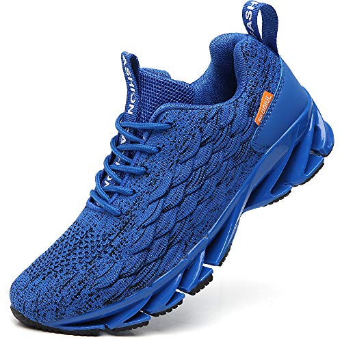 TSIODFO Running Sneakers for Men Running Shoes Size 9.5 mesh Breathable Gym Runner Trail Athletic Tennis Shoes Fashion Sport Jogging Sneakers Blue