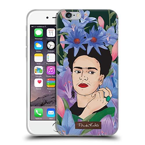 Head Case Designs Licenza Ufficiale Frida Kahlo Lilie Primo Piano 3 Cover in Morbido Gel Compatibile con Apple iPhone 6 / iPhone 6s