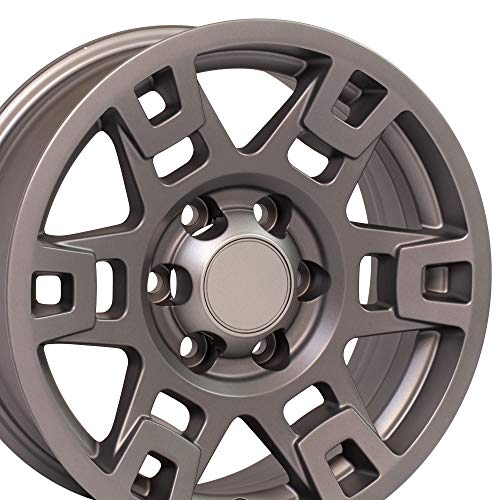 OE Wheels LLC 17 Inch Fits Toyota Tacoma Sequoia FJ Cruiser Tundra 4Runner Lexus GX HL450 TRD H Spoke Style TY16 Satin Graphite 17x7 Rim Hollander 75167