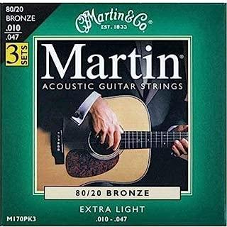 Martin M170 3-Pack 80/20 Bronze Extra-Light Gauge Acoustic Strings