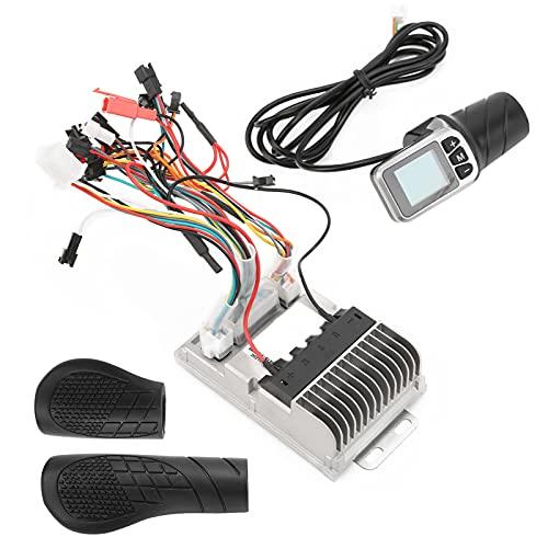 Controlador Sin Escobillas De Bicicleta Eléctrica, Diseño De Ranura Controlador De Velocidad De Motor De Bicicleta Eléctrica 34V / 48V Metal con Pantalla LCD Acelerador De Medio Giro para