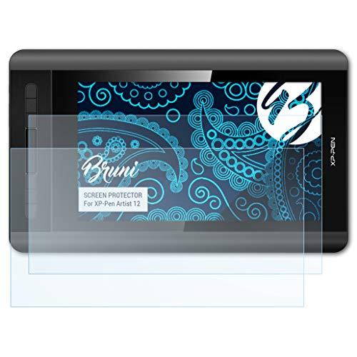 Bruni Película Protectora Compatible con XP-Pen Artist 12 Protector Película, Claro Lámina Protectora (2X)