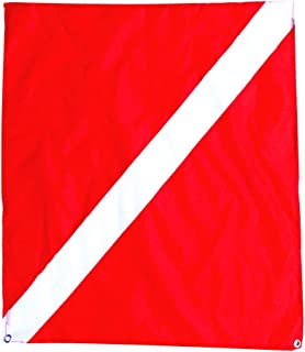 Boat Flag Underwater Scuba Diving Diver Sign Banner Metal Grommets Suit for Safety Signal Marker Banner Boat