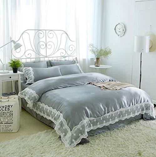 Betrothales Einfache Nackte Bett Tagesdecke Einzel Casual Und Chic Doppelzimmer 4 Teilig Steppdecke Steppdecke Bett Kit Schlafzimmer Bettwäsche Home Dekoration (Color : C, Size : Size)