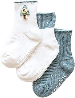 Da.Wa, Da.Wa 3 Pares Calcetines Gruesos para Bebés Calcetines Largos de Algodón Suela Antideslizantes para Niños Recién Nacidos Invierno Cálidos Suaves y Cómodos (M 1-3 años)