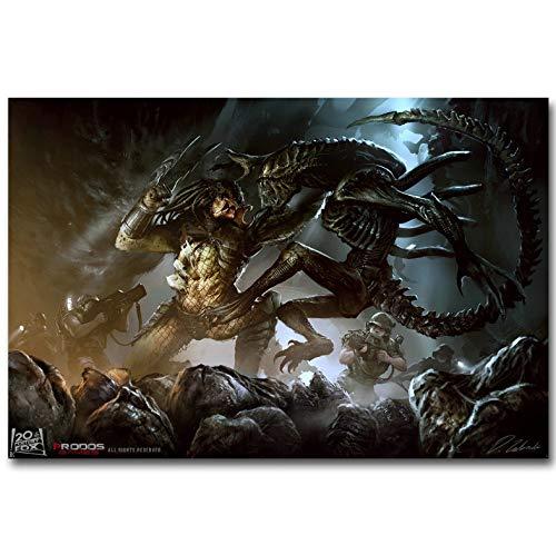 dianshangpuzi Alien Vs Predator 3 Art Poster Print Classic Science Fiction Movie Picture For Living Room Decoración De Pared Pintura Sin Marco A18 50X60Cm