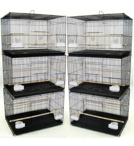 Mcage Lot of 6 Aviary Breeding Bird Finch Parakeet Finch Flight Cage 24""