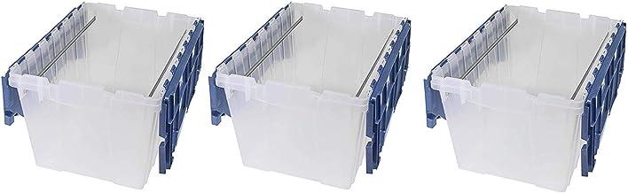 Akro-Mils 66486 FILEB 12 Galon Plastik Depolama Askılı Dosya Kutusu, Eklenmiş Kapaklı 21-1/2-inç x 15-inç x 12-1/2-inç, Ya...