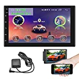 Android Double din 7 inch in-Dash GPS Navigation System car Stereo Radio Receiver HD Touch Screen WiFi Bluetooth FM Audio Player Support DVR/Backup Camera Input & Mirror Link for iOS/Android Phones