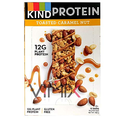 3 Types of KIND SNACKS Protein BAR Chocolate NUT 50g x 12 Packs (Toasted Caramel NUT)