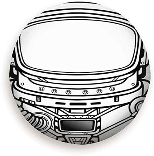 Beth-D Tire Cover Animatie Astronaut Ruimte Pak Technologie Polyester Universele Reservewiel Tire Cover Wiel Covers 14-17inch