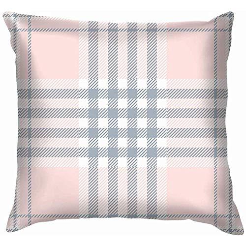 Kussensloop Plaid Check Pale Roze Stoer Kussenslopen Covers Bank Decoratieve 45X45cm Kussensloop Huis Kussensloop Gift