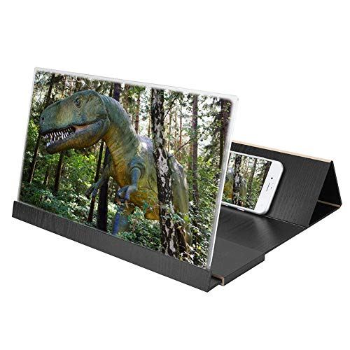 Wood Grain Screen Amplifier, 14 inch HD Foldable Environmentally Friendly Mobile Phone Screen...