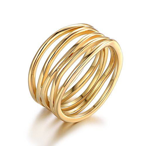 Barzel Gold Plated Statement Ring - Size 9