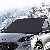 iCOVER CarWindshieldSnow Cover forIceand Snow, Winter Frost Guard Protector with Side Mirror Covers, Fits Universal SUVs Trucks Vans, Heavy Duty Canvas, Large Size