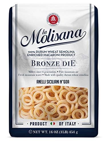La Molisana Pasta, Anelli Siciliani, 16 Ounce (Pack of 12)