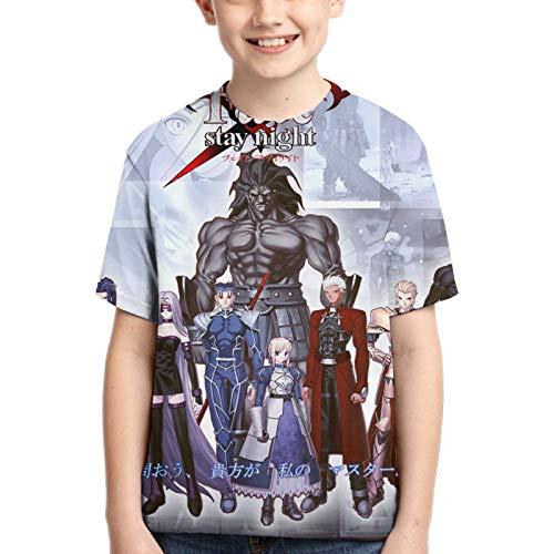 KFEOFILKDFAS Fatestay Night Shirt - Camiseta de manga corta con cuello redondo y cuello redondo