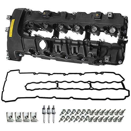 A-Premium Engine Valve Cover with Gasket & Bolt Compatible with BMW 335i 2007-2010 335xi 2007-2008 335i 535i (xDrive) 2009-2010 535i X6 2008-2009 740i 740Li 2011-2012