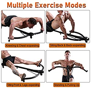 Body Rhythm Multifunctional Total Body Strength Training Fitness Equipment - Integrate Ab Roller, Abdominal Trainer & Push Up Bars, Best for Home Gym Workout Fitness