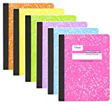 Mead Composition Book, 6 Pack of Cute Notebooks, College Ruled paper, Hard Cover 100 sheet...