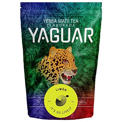 Yerba Mate Yaguar Limón 500g | Mate Tee Mit Zitrone | Brasilianischer Mate Tee | Hohe Qualität | Erfrischender Mate Tee | Glutenfrei | Vegan