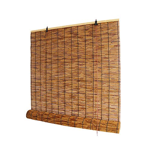 HMM Retro Persiana De Bambú 100 X 300 Cm Estores De Bambú Natural Persianas Enrollables Interior Con Accesorios De Montaje, Varios Tamaños/marrón