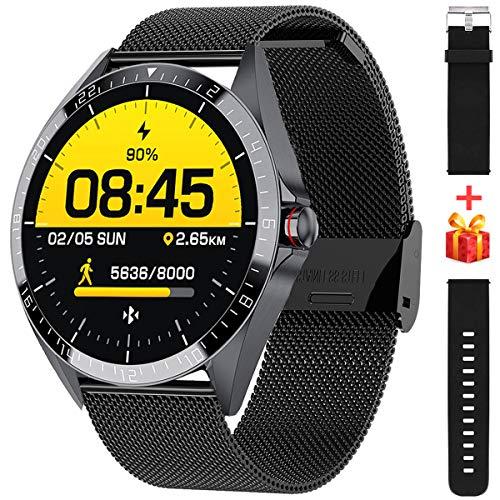 Smartwatch,1.54 Zoll Touch-Farbdisplay Fitness Armbanduhr mit Pulsuhr Fitness Tracker IP68 Wasserdicht Sportuhr Smart Watch mit Schrittzähler,Schlafmonitor,Stoppuhr für Damen Herren