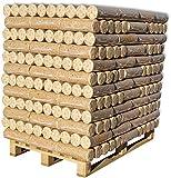 960kg Palette Premium Holzbriketts deutsche Produktion Nestro Briketts Kamin Ofen Brikett Brennholz 96x10kg = 480 Briketts | 100% Made in Germany | ersetzt ca. 5 Ster Hartholz | Energie Kienbacher