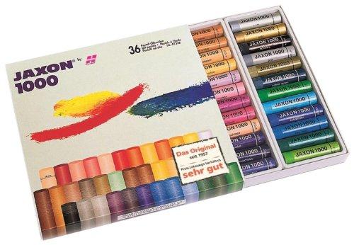 Honsell 47336 - Jaxon 1000 Ölpastellkreide, 36er Set, im Kartonetui, brillante, lichtechte Farben, ideal für Künstler, Hobbymaler, Kinder, Schule, Kunstunterricht, frei von Schadstoffen