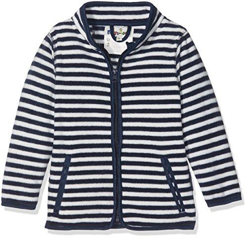 Playshoes Kinder Fleece-Jacke Maritim Jacke, Blau (Marine/weiß 171), 92