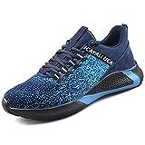 UCAYALI Safety Jogger Zapatos de Seguridad Hombre Unisex Zapatillas de Trabajo Azul/Negro Talla 40