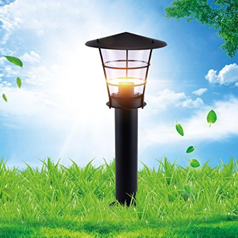 Modeen Einfacher moderner Edelstahl-wasserdichte Gras-Licht-Landschaftsrasen-Licht-Garten-Landhaus-Stehlampe im Freien Acryl-E27 europische amerikanische Straenlaterne-Spalten-Lampe