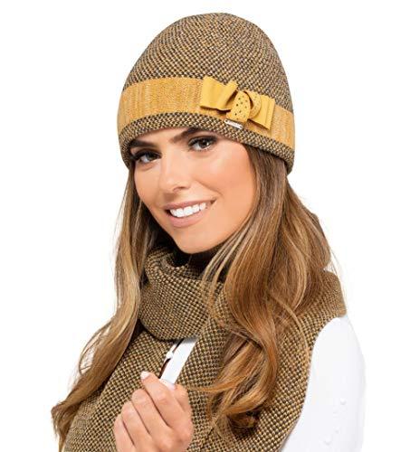 Kamea - Winterset Bologna - muts met bijpassende sjaal - verschillende kleuren selectie - 2-delig, geschenk voor vrouwen