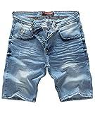 Rock Creek Herren Shorts Jeansshorts Denim Stretch Sommer Shorts Regular Slim [RC-2121 - Blue Vintage W34]