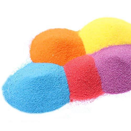 Art Sand, Craft Sand Scenic Sand Decor Colored Sand(10 Colors, Total 2.2 LB)