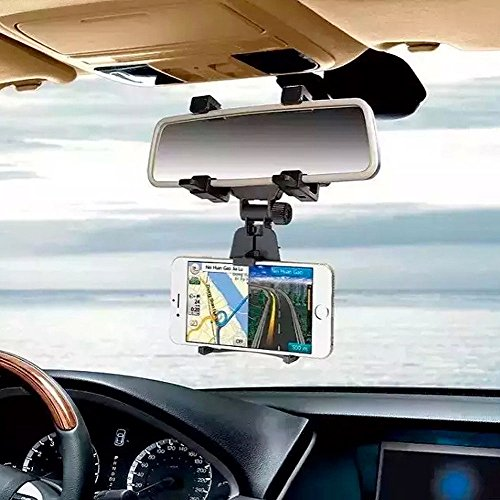 Vinciann Supporto specchietto retrovisore Auto Universale per Smartphone GPS navigatore BKM